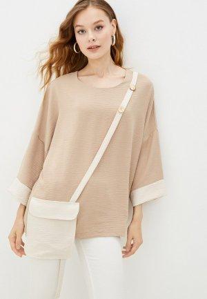 Блуза Adzhedo. Цвет: бежевый