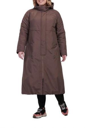 Пальто Modress. Цвет: коричневый
