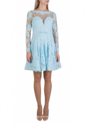 Платье FOREVER UNIQUE. Цвет: голубой