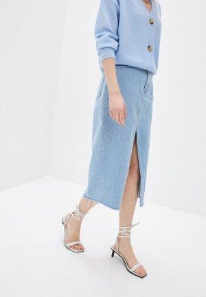 Юбка джинсовая 3x1. Цвет: голубой