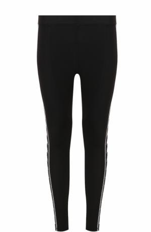 Облегающие брюки с принтом Faith Connexion. Цвет: черный