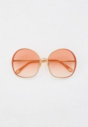 Очки солнцезащитные Chloe. Цвет: золотой