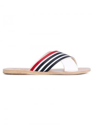 Сандалии Thais Stripe Ancient Greek Sandals. Цвет: белый