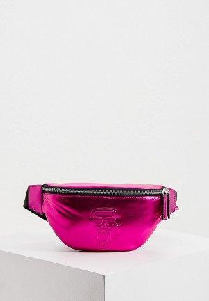 Сумка поясная Karl Lagerfeld. Цвет: розовый
