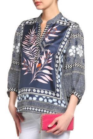 Блуза Diane von Furstenberg. Цвет: синий