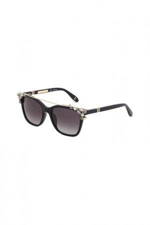 Солнцезащитные очки CAROLINA HERRERA NEW YORK. Цвет: черный