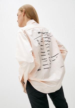 Рубашка MM6 Maison Margiela. Цвет: розовый