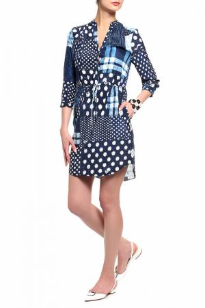 Платье-рубашка Diane von Furstenberg. Цвет: мультицвет