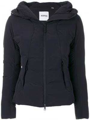 Дутая куртка Garzetta Aspesi. Цвет: синий
