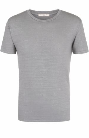 Льняная футболка с круглым вырезом Daniele Fiesoli. Цвет: серый