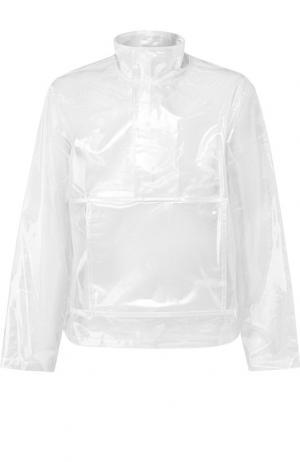 Прозрачный анорак с воротником-стойкой Helmut Lang. Цвет: прозрачный