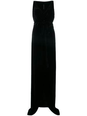 Бархатное платье с запахом Gareth Pugh. Цвет: чёрный