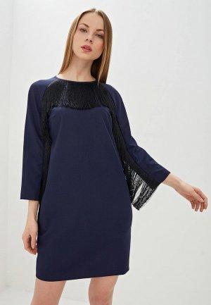 Платье Hugo. Цвет: синий