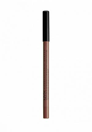 Карандаш для губ Nyx Professional Makeup. Цвет: коричневый