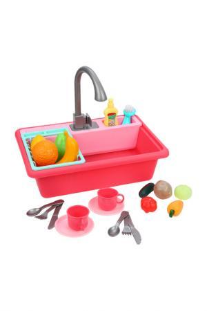 Кран-посудомойка Умный дом MARY POPPINS. Цвет: розовый