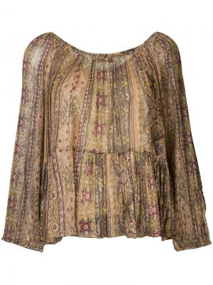 Блузка с принтом Mes Demoiselles. Цвет: многоцветный