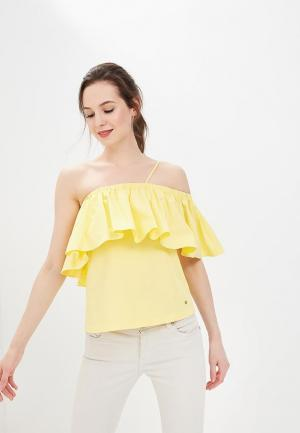 Блуза Tommy Hilfiger. Цвет: желтый