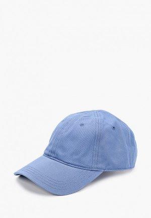 Бейсболка Lacoste. Цвет: голубой