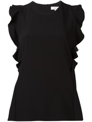 Блузка с оборками Carven. Цвет: чёрный