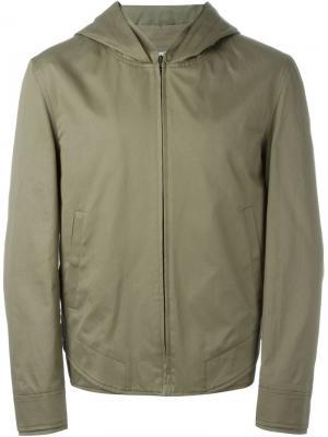 Куртка  с капюшоном Chalayan. Цвет: зелёный