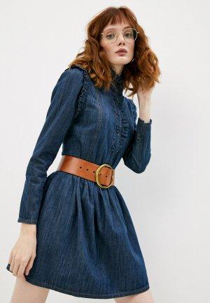 Платье джинсовое See by Chloe. Цвет: синий