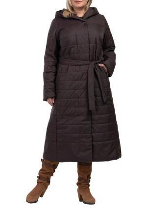 Пальто Modress. Цвет: шоколад