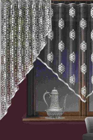 Комплект штор на кухню WISAN. Цвет: бело-черный