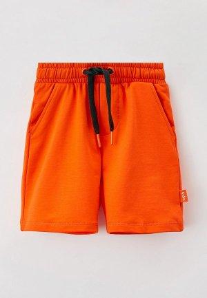 Шорты Button Blue. Цвет: оранжевый