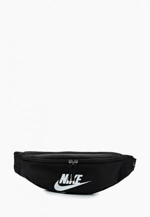 Сумка поясная Nike. Цвет: черный