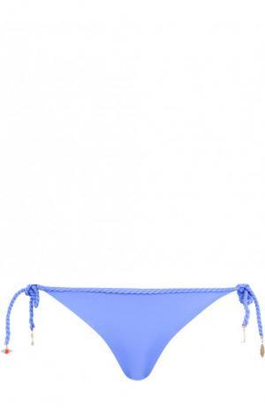 Однотонные плавки-бикини Lazul. Цвет: синий