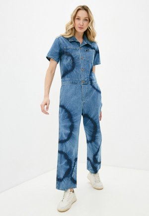 Комбинезон джинсовый Wrangler. Цвет: голубой