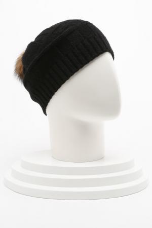 Вязаная шапка Elisabeth. Цвет: черный