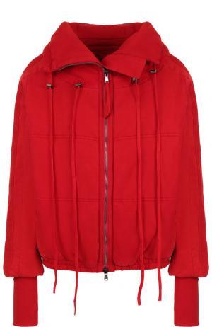 Хлопковая куртка с воротником-стойкой Roque. Цвет: красный