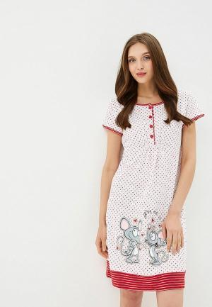 Платье домашнее Kinanit. Цвет: белый