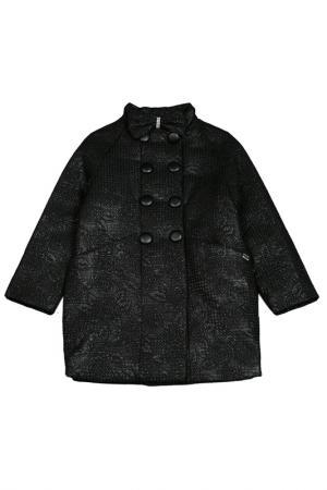 Пальто LAURA BIAGIOTTI DOLLS. Цвет: черный