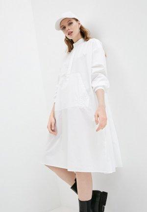 Платье MM6 Maison Margiela. Цвет: белый