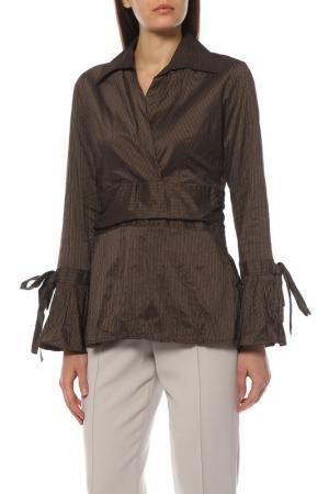Блуза EXETERA. Цвет: коричневый