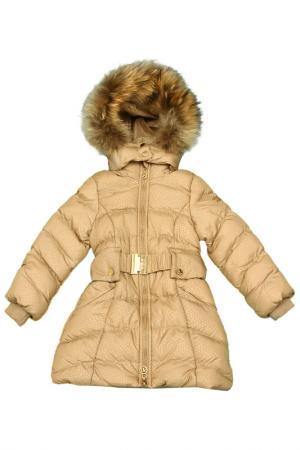 Пальто De Salitto. Цвет: бежевый
