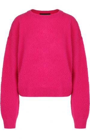 Пуловер из смеси шерсти и кашемира Erika Cavallini. Цвет: фуксия