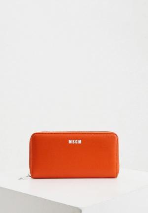 Кошелек MSGM. Цвет: оранжевый