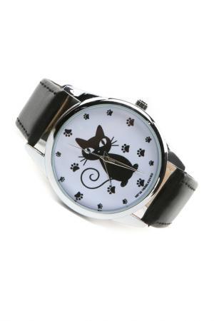 Часы Кошка и следы MITYA VESELKOV. Цвет: черный