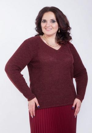 Пуловер Wisell. Цвет: бордовый