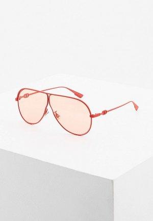 Очки солнцезащитные Christian Dior. Цвет: красный
