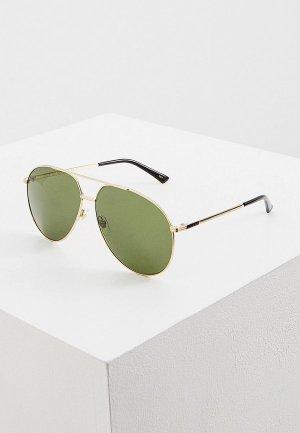 Очки солнцезащитные Gucci. Цвет: золотой