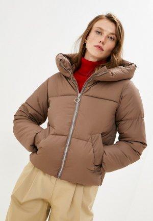 Куртка утепленная Mamma Mia. Цвет: коричневый