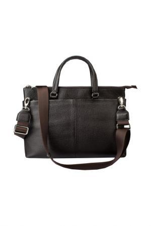 Сумка-портфель Dimanche. Цвет: коричневый