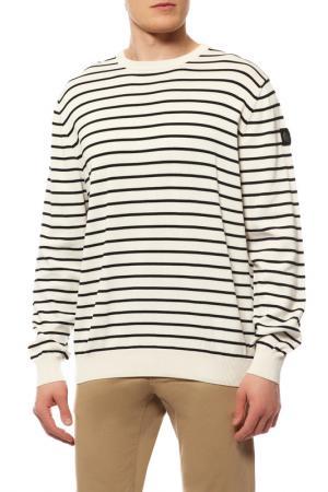 Пуловер MARINA YACHTING. Цвет: белый в черную полоску