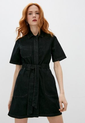 Платье джинсовое French Connection. Цвет: черный