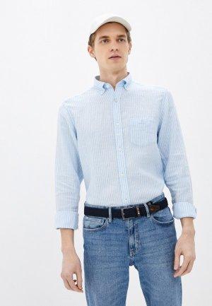 Рубашка Gant. Цвет: голубой