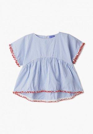 Блуза Stella Jean Kids. Цвет: голубой